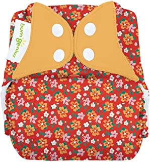 bumGenius Freetime All-in-One One-Size Snap Closure Cloth Diaper - Little House in The Big Woods Collection (Prairie Flowers)