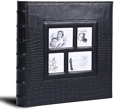 """Holds 300 /""""4X6/"""" Photos Wedding Album Collection Jacquard Textured 3 Per Page KVD Kleer-Vu Deluxe Albums Window Frame Cover Copper"""