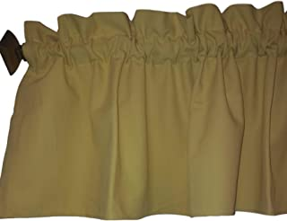 "Ruffle Yellow Valance Curtain Solid Color. Window treatment. Window Decor. Kitchen, classroom, Kids, wide 56"" fits standard curtain rod. Saffron Pastel"