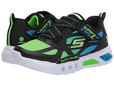 SKECHERS KIDS Sport Lighted Flex-Glow Lowex 400015L (Little Kid/Big Kid) (Blue/Black/Lime) Boy