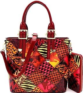 dkny patent tote bag