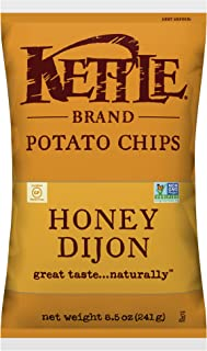 Kettle Brand Potato Chips, Honey Dijon, 8.5 Ounce Bag