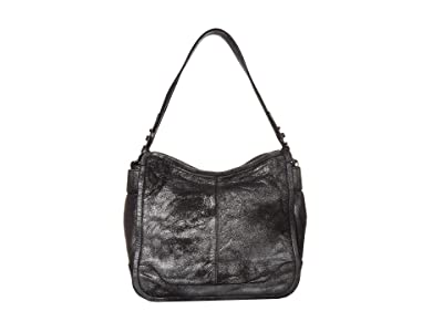 Frye Mel Hobo (Gunmetal) Handbags