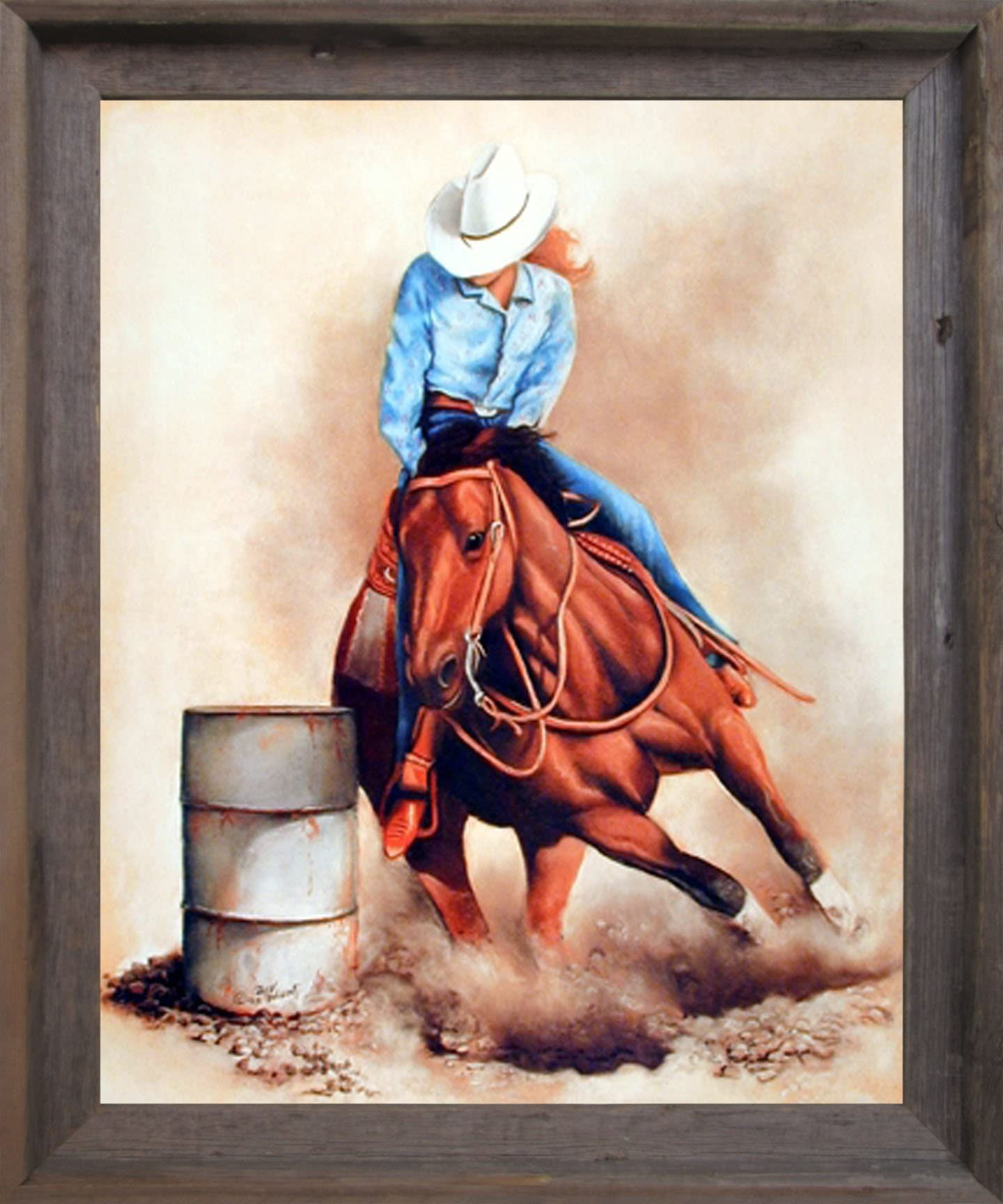 Life Is Tough Cowgirl VINTAGE RODEO POSTER Cowgirl but So Are YOU!