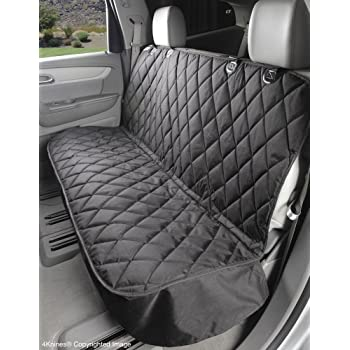 4Knines Dog Seat Cover Without Hammock for Cars, SUVs, and Small Trucks - Heavy Duty, Non Slip, Waterproof