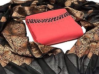 Latest Designer Cotton Moti Khatli Hand Work Salwar Suit With Banarasi dupatta for occassion and wedding party wear (Radha Krishna)