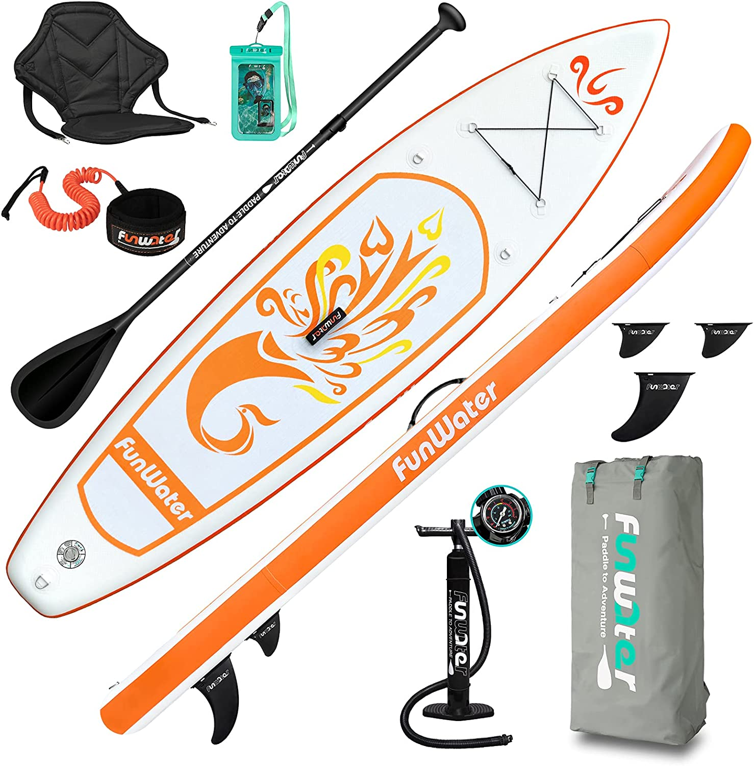FunWater SUP Inflatable Stand Up Ultra Fort Worth Mall 10'x31''x6'' Paddle Very popular Board