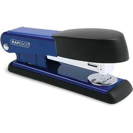 Rapesco Bowfin 535 Agrafeuse Demi-Bande Métal (Fournie avec 105 Agrafes 26/6mm) Bleue