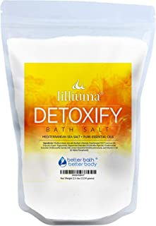 Detoxify Bath Salt 40 Ounces Mediterranean Sea Salt with Peppermint, Frankincense, and Lemon Essential Oils...