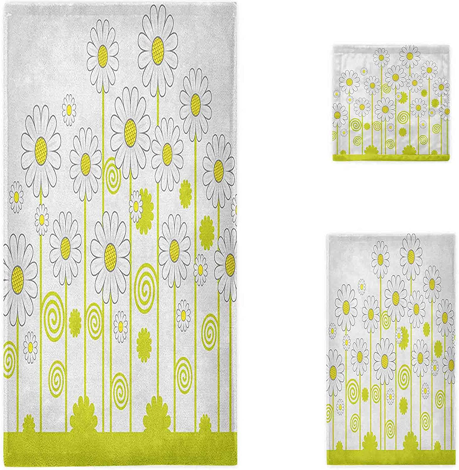Floral Oversized Bath Towels Daily bargain sale Miami Mall Daisy Flowers with a in Day Sunny