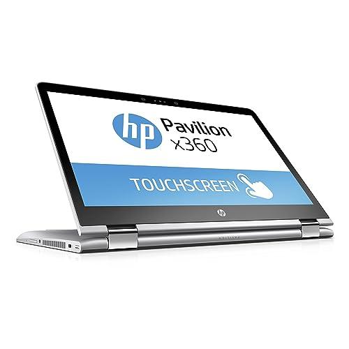 HP Pavilion x360 14-ba017ng 35,6 cm (14 Zoll) Convertible Laptop (Intel Pentium 4415U, 256 GB SSD, 8 GB RAM, Intel HD-Grafikkarte 610, Windows 10 Home 64) silber