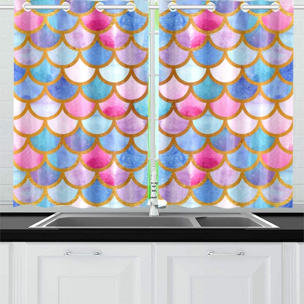 INTERESTPRINT Blackout Limited price Kitchen Window National products Treatments Panel Dra Small