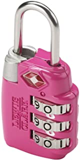 Lewis N. Clark Travel Sentry Combo Lock, Large 3dial, Pink, One Size