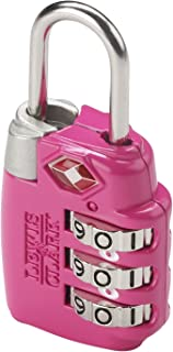 Lewis N. Clark Luggage Travel Sentry Combo Lock, Large 3dial, Pink