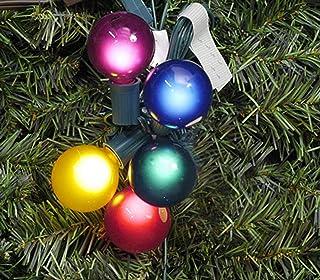 Vickerman Pack of 10 Multi Satin G50 Globe Replacement Christmas Light Bulbs for C7 Socket (Renewed)