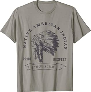 Iroquois tribe Native American Indian Pride Respect Logo T-Shirt