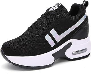 AONEGOLD Sneakers Donna Zeppa Scarpe da Ginnastica Sportive Running Fitness Casual Tacco Zeppa 8.5 CM