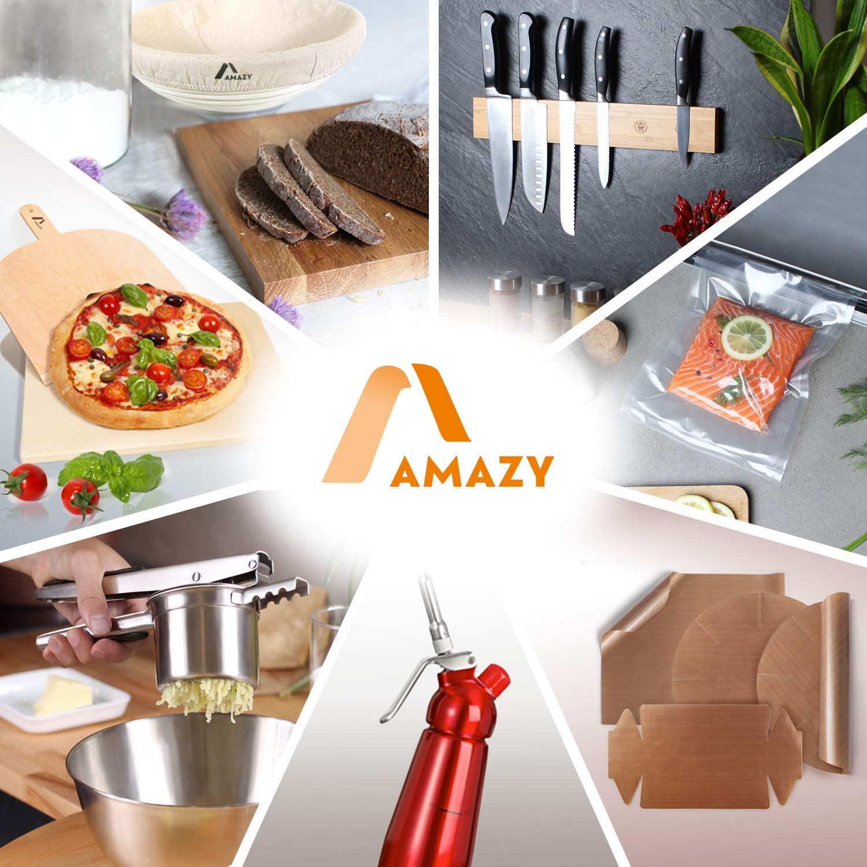 Mousse Noir espuma cr/ème Chantilly Maison 2 brosses nettoyantes Amazy Siphon avec 3 Douilles en INOX Siphon en Aluminium Professionnel pour cr/ème fouett/ée