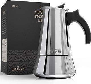 Induktionspishäll i rostfritt stål espressobryggare – gör cafékvalitet italiensk stil kaffe hemma med denna premium moka i...