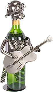 Metal Guitar Singer Wine Bottle Holder