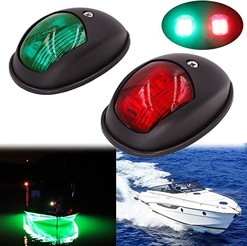 Mounteen LED Navigation Lights Red /& Green Yacht DC 12V Pontoons Starboard Skeeter New Marine Sailing Signal Lights for Bow Side,Port Chandlery Boat