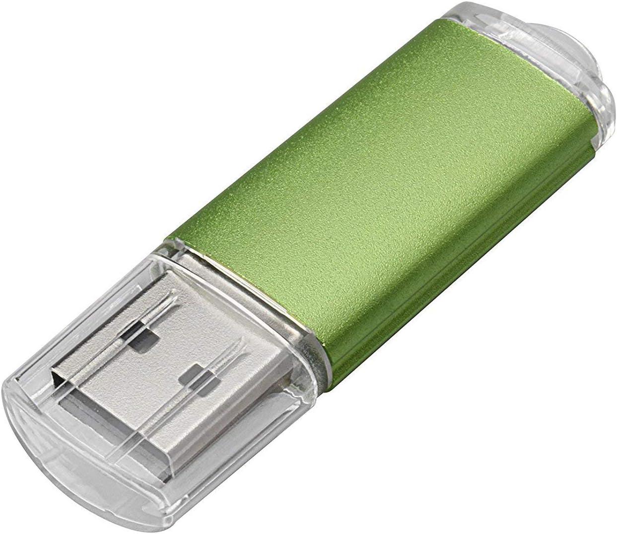 2.0//16GB, Green 100PCS 2.0//3.0 USB Flash Drive Pen Drive Memory Stick Thumb Stick Pen Black