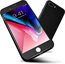 ORETECH iPhone 8 Plus Case, 7 Plus 360 Full Body Hard PC Case with[2 x Tempered Glass Screen Protector] Ultra-Thin Lightweight Shockproof and Anti-Scratch Case for iPhone 7 Plus/8 Plus -5.5
