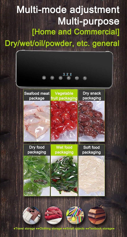 WJQQ Machine sous Vide Alimentaire, Scelleuse De Sacs avec 10 Sacs sans BPA, Machine de Cachetage pour Conservation des Aliments,Viandes, Légumes, Fruits Silver Rose Gold