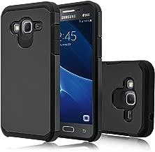 Galaxy J3 V Case, Galaxy J3 Case (2016), Venoro [Shockproof] Armor Hybrid Defender Rugged Protective Case Cover for Samsung Galaxy J3 / Express Prime/Amp Prime (Black)