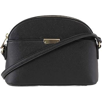 EMPERIA Ava/Eva Small Cute Saffiano Vegan Faux Leather Dome Crossbody Bags Shoulder Bag Purse Handbags for Women