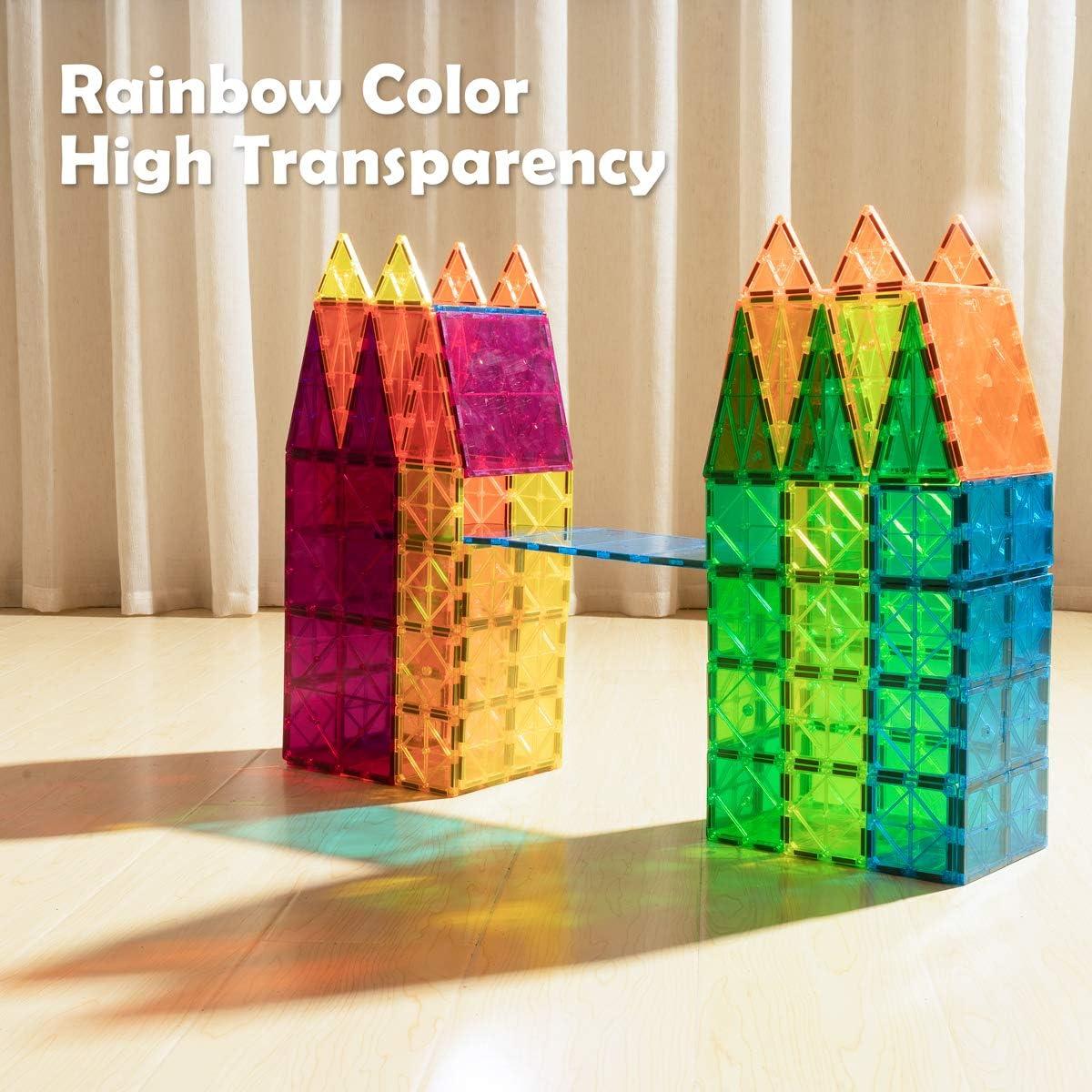 cossy Kids Magnet Toys Magnetic Tiles, 120 PCs Building Blocks,...