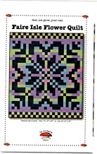 Faire Isle Flower Quilt Pattern from La Todera - twin or lap size -