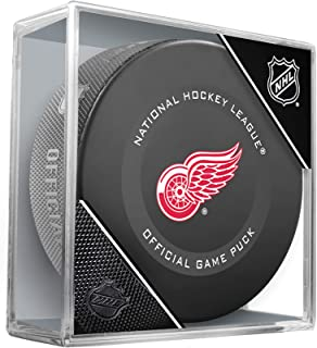 red wings game puck