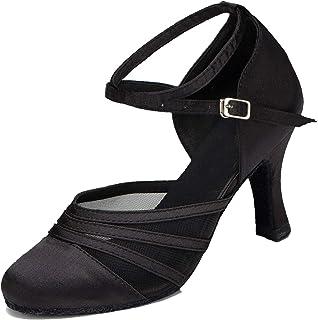 MINITOO Femme Chaussure de Danse Latine Salsa en Maille Satinee L189