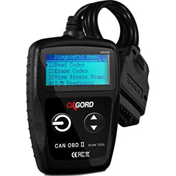 OxGord OBD2 Scanner Code-Reader-Reset Tool MS309 - No Computer or Phone Needed Diagnostic for Cars 1996 and Up - 3000+ Codes - Diagnose Check Engine Light Erros