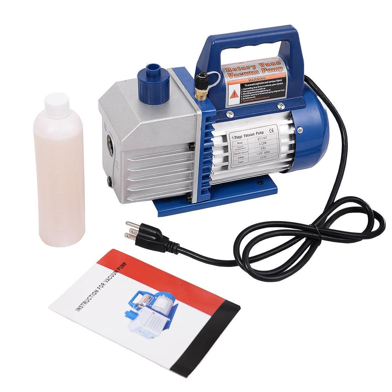 KCHEX>> Single Stage 1/3HP 4CFM Rotary Vane Deep Vacuum Pump HVAC AC Air Tool R134 R410a>>Our Single Stage 4CFM 1/3HP Rotary Deep Vacuum Pump which can Remove Moisture