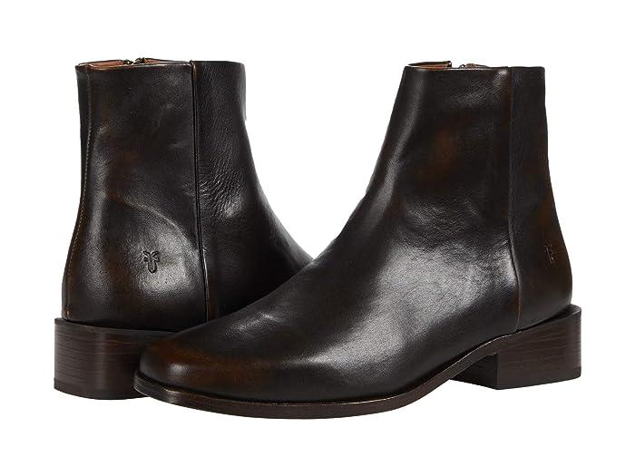 Vintage Boots, Retro Boots Frye River Inside Zip Bootie Bronze Womens Shoes $297.95 AT vintagedancer.com