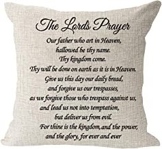 The Lord s Prayer Blessing Gift to Family Friend Farmhouse Cotton Linen Square Throw Waist Pillow Case Decorative Cushion ...