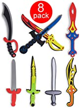 Assorted Foam Toy Swords for Children with Different Designs Including Ninja, Pirate,..