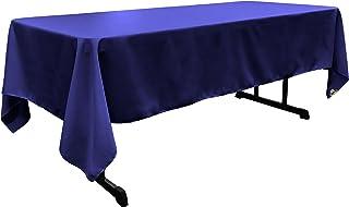 LA Linen Polyester Poplin Rectangular Tablecloth 60 by 144-Inch, Royal Blue, 152.4 x 366 x 0.04 cm