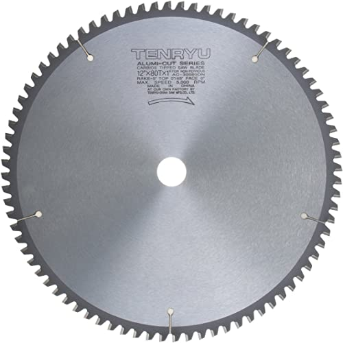 """new arrival Tenryu AC-30580DN 12"""" Carbide Tipped Saw Blade ( 80 Tooth TCG Grind - 1"""" new arrival Arbor - 0.11 discount Kerf) outlet sale"""