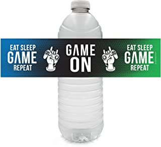 Video Game Birthday Party Water Bottle Labels - 24 Stickers