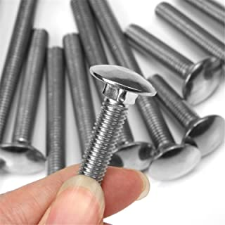 Bolt Base 6mm A2 Stainless Steel Coach Bolts Cup Square Carriage Bolt Screws DIN 603 M6 X 65-2