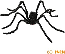 Jiaqee Creepy Halloween Decoration Spider - 60 Inch Giant Scary Hairy Spider For Halloween Outdoor Decor