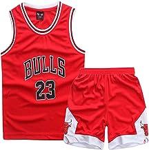 ZETIY Kleine Jungen 2er-Set Basketball Trainings Ärmellos Trikot und Hose