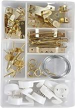 Cogex 85274 Wandhaken, gesorteerd, wit/grijs/goud, 60-delige set