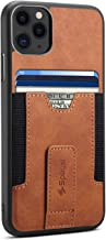 Spaysi iPhone 11 Pro Credit Card Holder Case Slim iPhone 11 Pro Wallet Case iPhone 11 Pro Leather Case Wireless Charging Kickstand Flexible Card Slot (Brown)