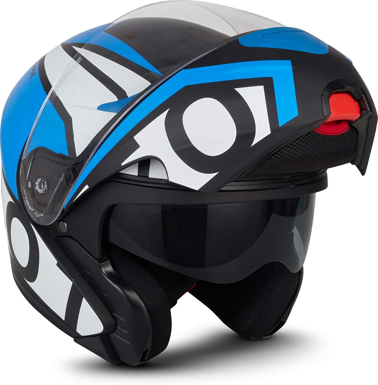 Casco Moto Modular + gafas + braga de cuello