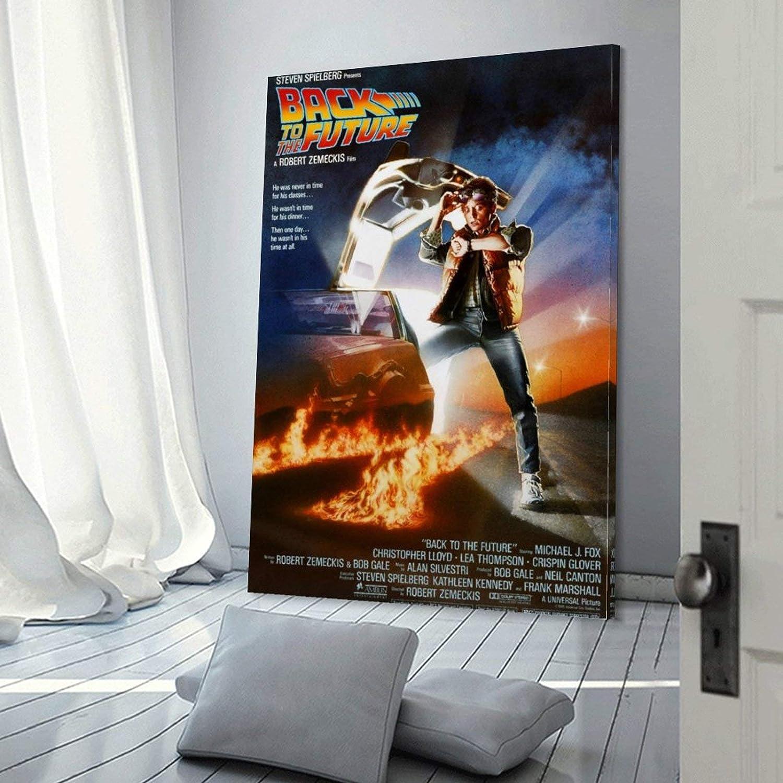 20 x 30 cm para dormitorio familiar impresi/ón art/ística para pared dise/ño moderno P/óster de Regreso al Futuro en lienzo