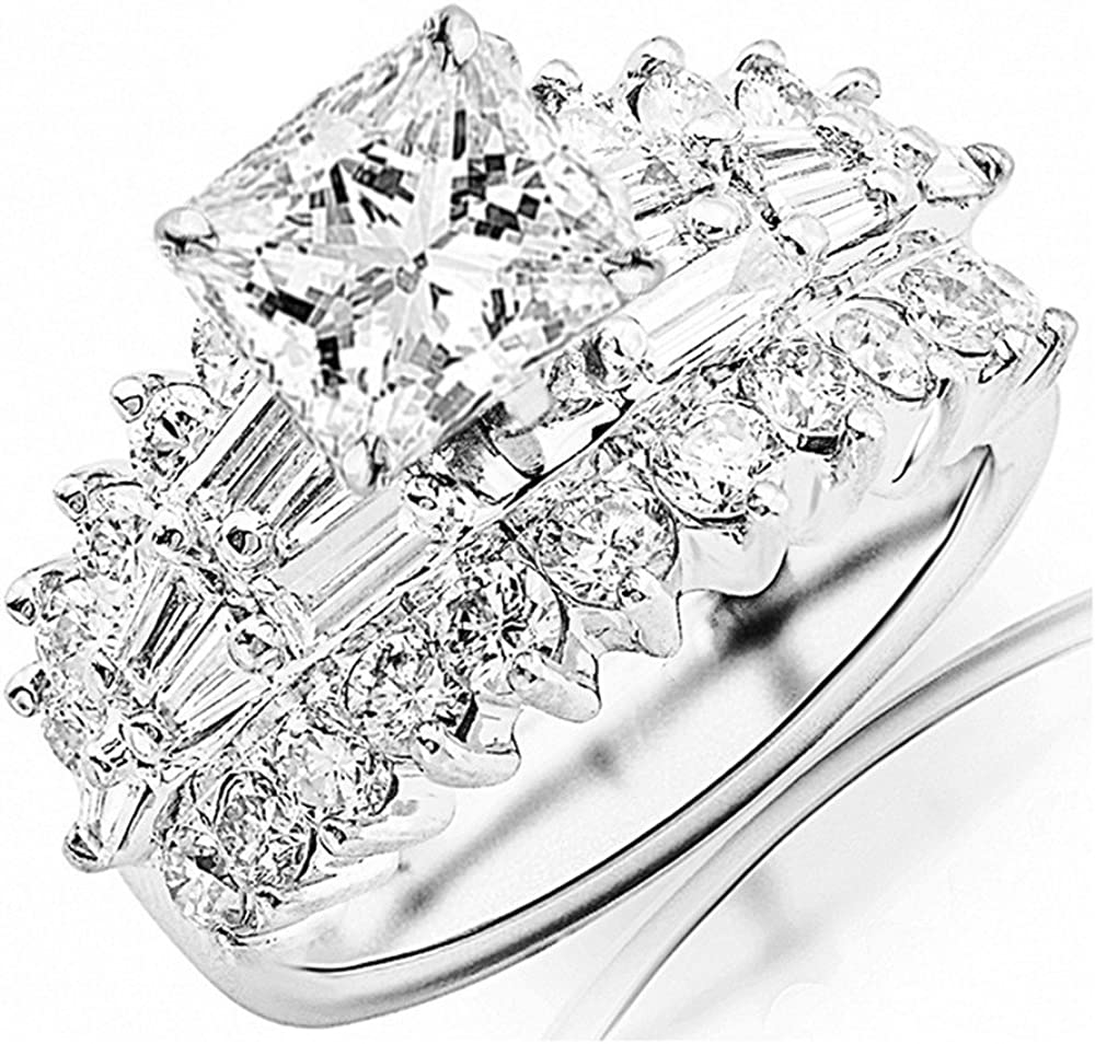14K White Gold Max 81% OFF 3.5 Carat New product LAB GROWN Exquisi DIAMOND CERTIFIED IGI